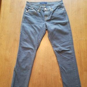 Rock & Republic Gold Metallic Berlin Skinny Jeans